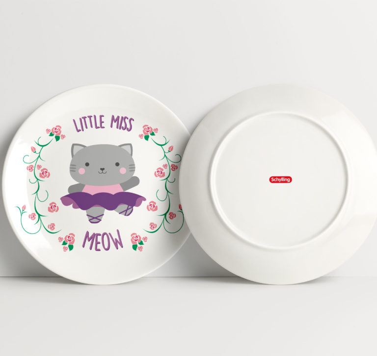 Little Miss Meow Tea Set for Schylling Toys: Lillian Lee Art and Design
