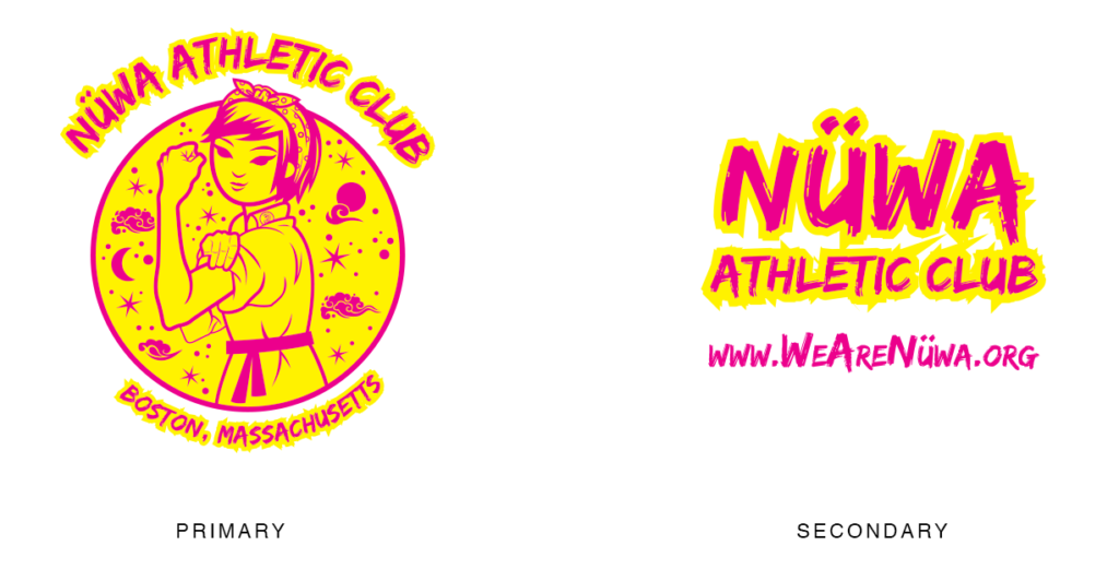 Nuwa Athletic Club Logo and Branding: Lillian Lee Art & Design