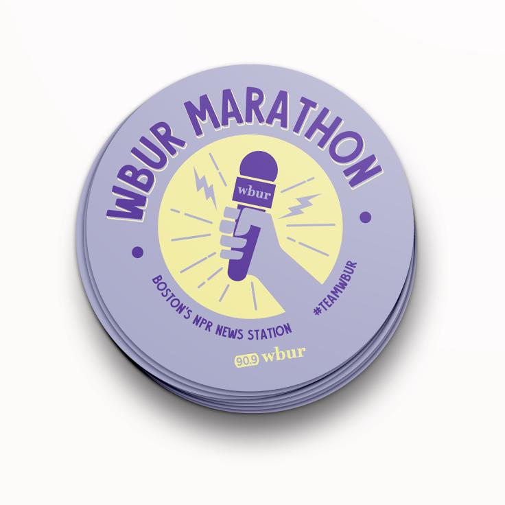 WBUR Marathon campaign sticker