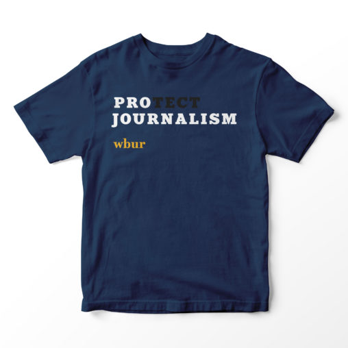 Pro(tect) Journalism tee shirt for WBUR | LILLIAN LEE Art & Design