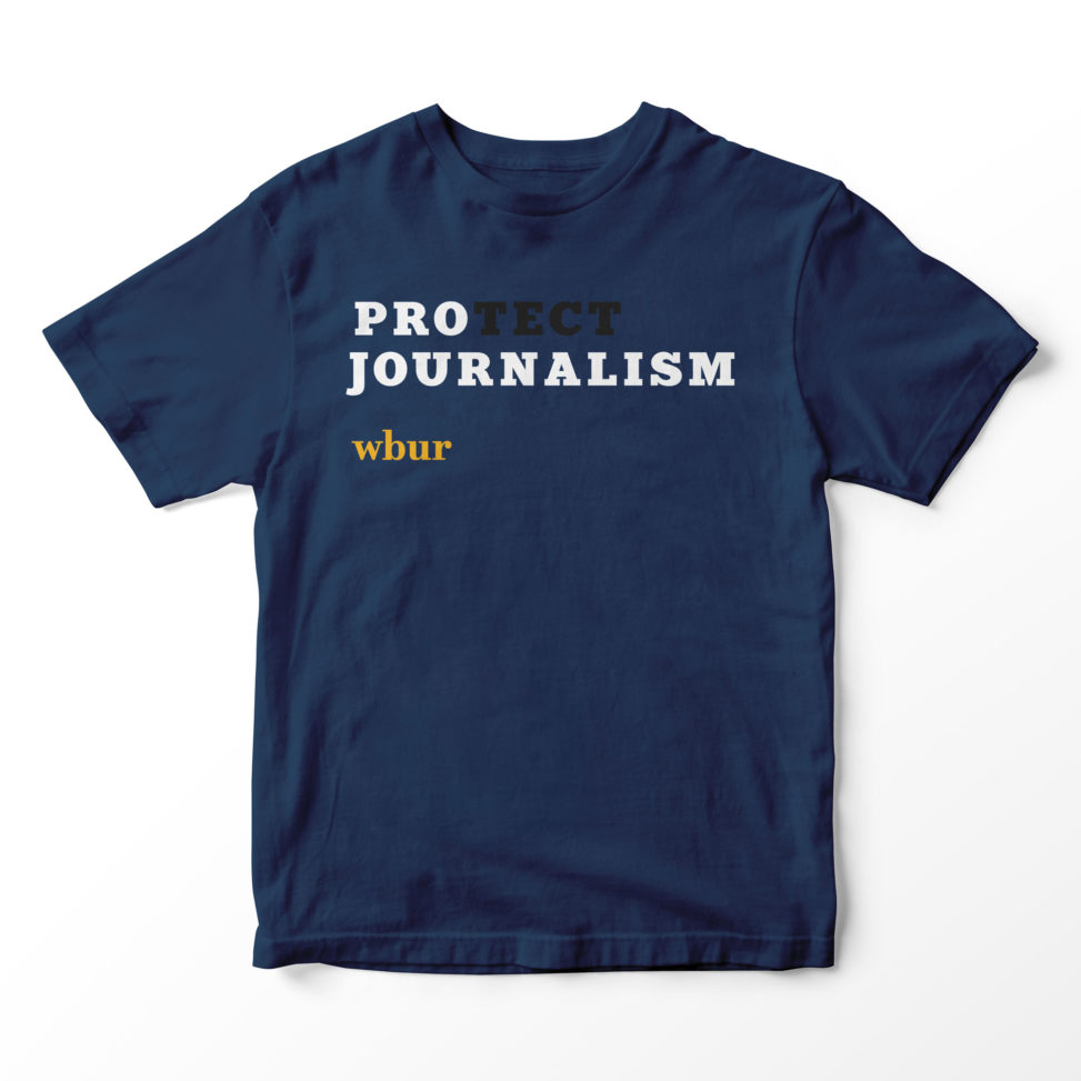 Pro(tect) Journalism tee shirt for WBUR | LILLIAN LEE Art & Design