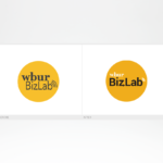 New Logo and Identity for WBUR's BizLab, an incubator for innovation and experimentation in the public radio space