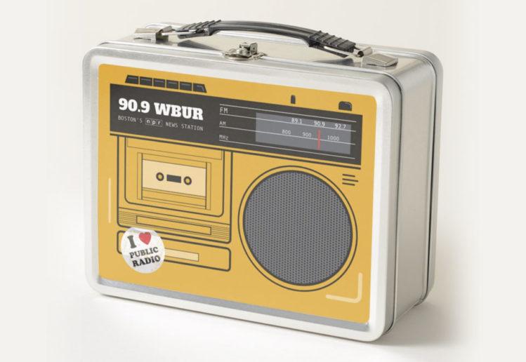 Retro Radio Lunchbox for WBUR by Lillian Lee Art & Design