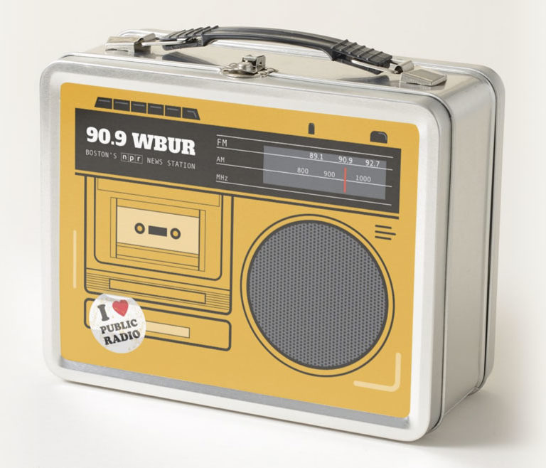 Retro Radio Lunchbox for WBUR by Lillian Lee Art & Design