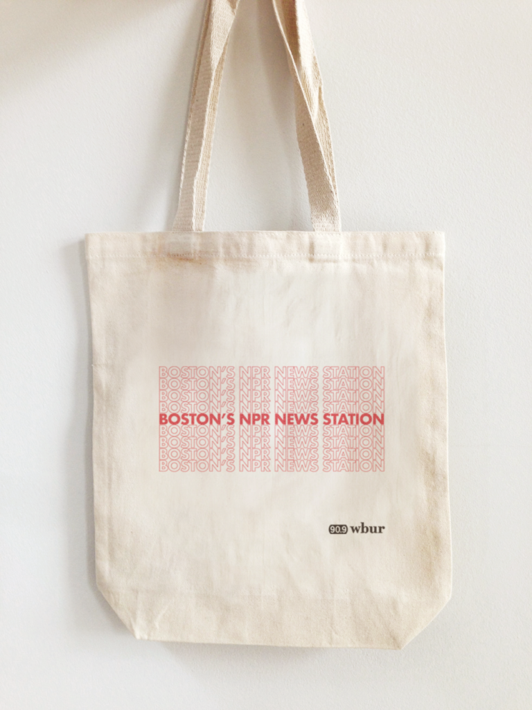 Thank You Boston public radio eco tote bag for WBUR by LILLIAN LEE