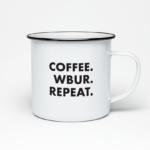 Coffee. WBUR. Repeat. camper mug for WBUR by LILLIAN LEE