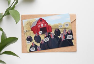 2020 WBUR Holiday Card | Lillian Lee Design & Illustration