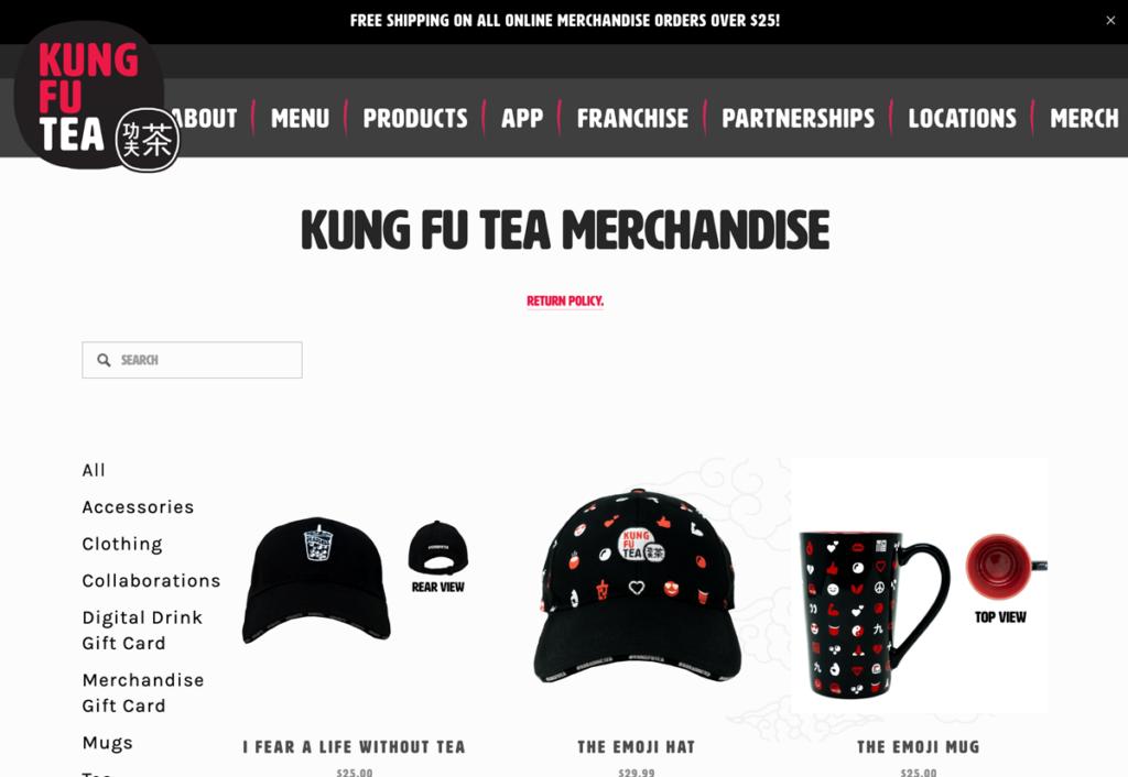 Kung Fu Tea merch