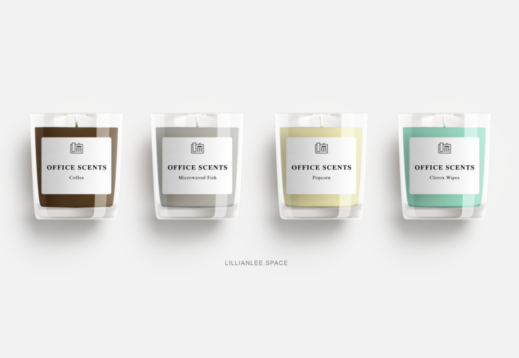 Office Scents Candle Collection by LILLIAN LEE Art & Design