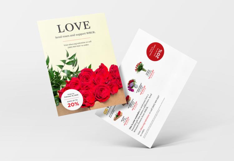 Valentine's Flower Campaign for WBUR 2020