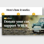Cars Donation Direct Mail for WBUR