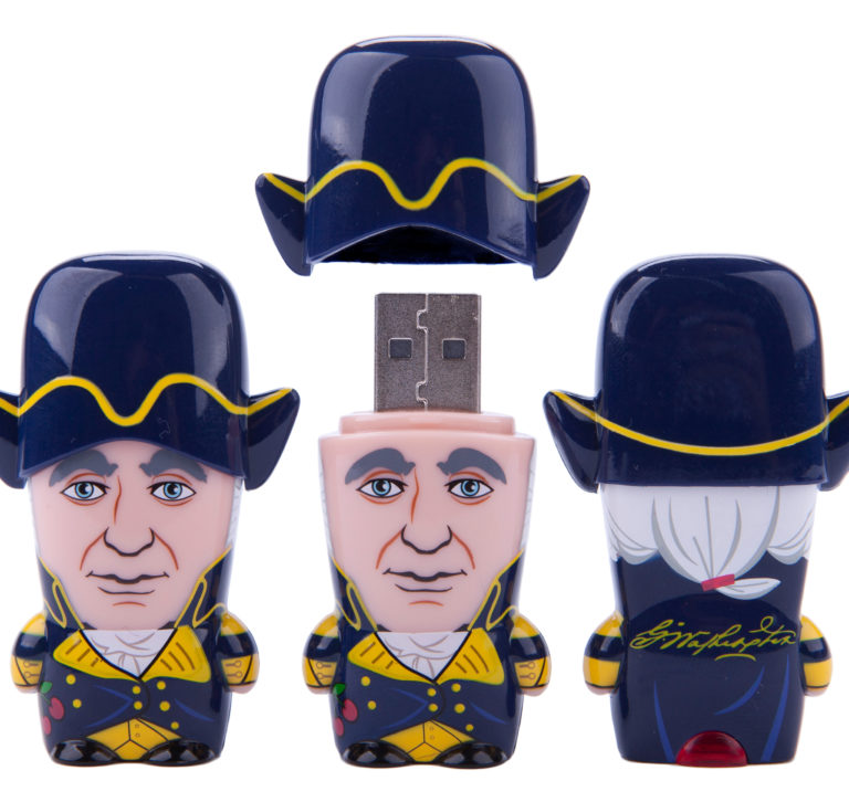 George Washington MIMOBOT USB flash drive for Mimoco | LILLIAN LEE Art & Design