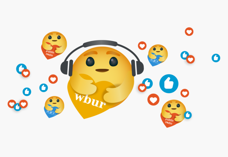 Care Emojis for WBUR, NPR...and Public Radio. Show You Care. | LILLIAN LEE Art & Design
