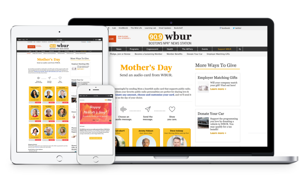 2020 Mother's Day Audio Card Campaign for WBUR | LILLIAN LEE Art & Design