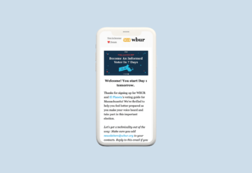 "WBUR ""Mass. Election Prep"" e-newsletter campaign | Lillian Lee, graphic design & illustration"