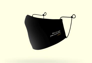 WBUR We've Got You Covered Face Mask | lillian lee, design & illustration