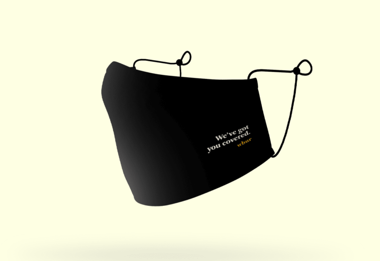 WBUR We've Got You Covered Face Mask | lillian lee, design & illustration