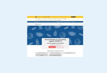MA Vaccine website redesign   lillian lee art & design