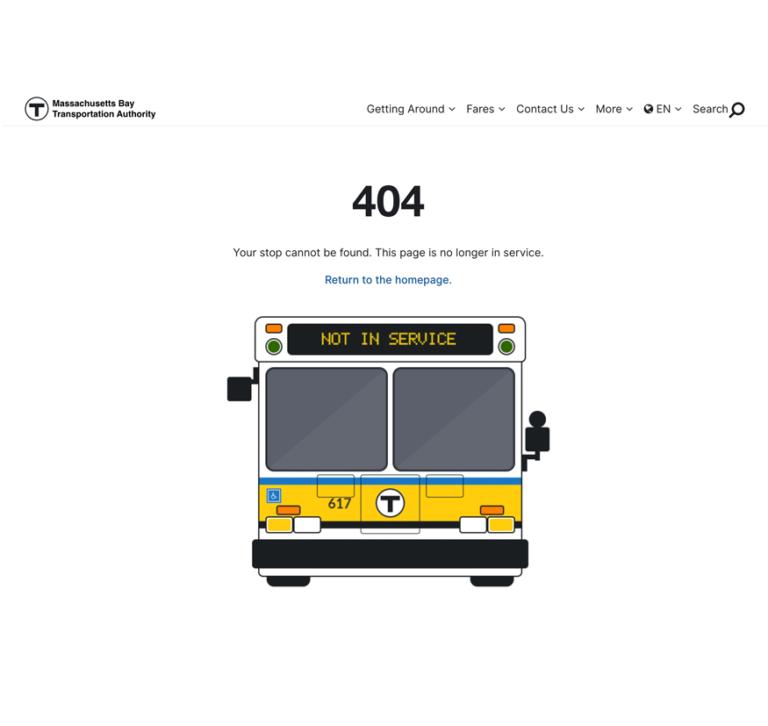 MBTA 404 error page 2019